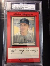 JOHNNY COONEY Autograph 1941 Card PSA/DNA HA Originals NM MT 8 #14/50 RARE - $49.50
