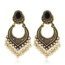Metal Vintage Tassel Earrings Fashion Jewelry 2019 Indian Boho Carved An... - $16.16