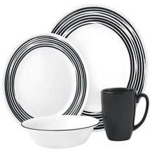 Corelle Boutique Brushed Black Round 16 Piece Dish Set Service for 4 - $72.00