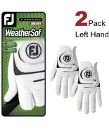 FJ FootJoy Men's WeatherSof 2-Pack Golf Gloves White LEFT HAND  - $19.98