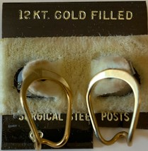 NEW Women's Fashion Jewelry | 12 Karat Gold Filled Hoop Earrings - $9.85