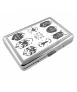Vintage Skiing D40 Silver Metal Cigarette Case RFID Protection Wallet Wi... - $13.95