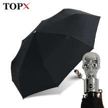 TopX® Umbrella Creative Style Metal Skull Head Punk Style Windproof Ultr... - $37.07