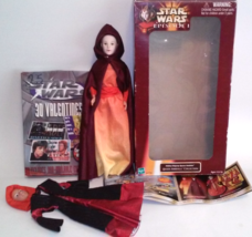 STAR WARS Episode 1 Queen Amidala Action Doll & Valentines LOT - $21.99