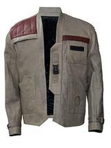 Finn Star Wars Force Awakens John Boyega Beige Leather Jacket image 1