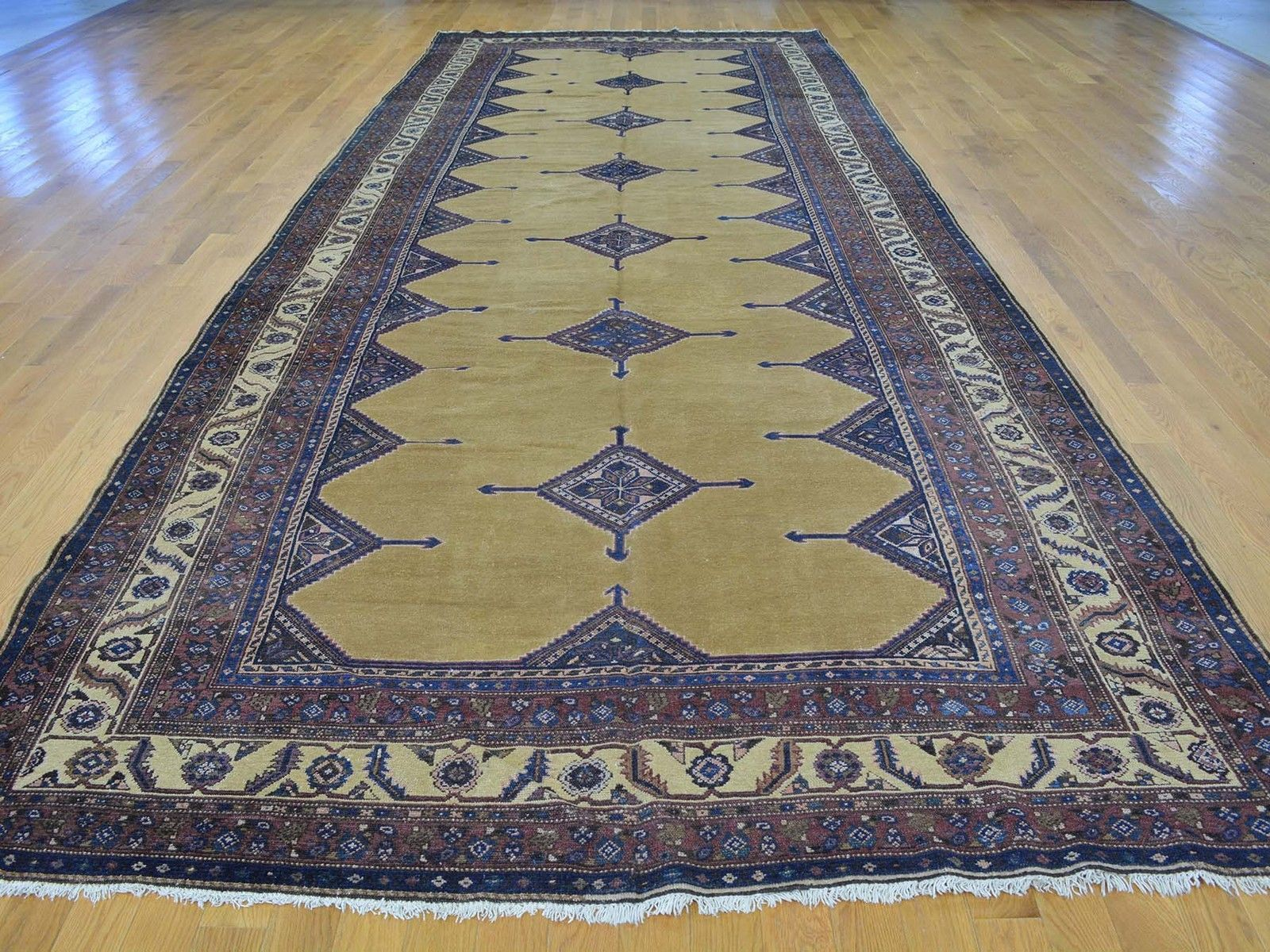 """6'6""""x17' Gallery Size Antique Persian Malayer Hand Knotted Oriental Rug G26179"""
