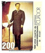 ECUADOR 1986 JUAN MONTALVO S/S SC#1226 VF MNH LITERATURE (D01) - €4,54 EUR