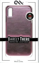 New Case-Mate Barely There Leather Case for iPhone XS Max  Metallic Blush  - $7.92