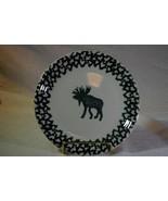 "Tienshan Moose Country Stoneware Salad Plate 7 1/2""  Folkcraft - $3.46"