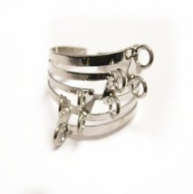4 pc platinum look with Loop Ring Base-8678 - $2.50