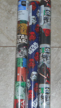 Usa Star Wars Movie Christmas Wrapping Paper Storm Troopers Kids 20 Sq Ft Roll - $4.00+