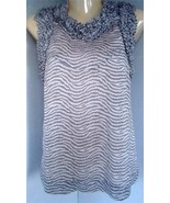FRENCH CONECTION Beige Lined Ruffle Collar SLeeveless  Blouse  Top Size (2) - $6.35