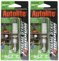 Set of 2 Autolite XST4265 Xtreme Start Iridium Enhanced Spark Plugs RN12YC GR4VX