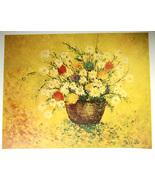Barbara Lainere Flower Basket Signed Artist Proof Original Lithograph Pr... - $45.00
