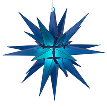 Blue LED Moravian Star Christmas Lighted Indoor Outdoor Decoration Displ... - £39.16 GBP