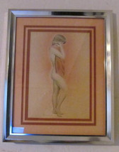 "Original Framed & Signed Title Unknown ""Nude Woman With Towel"" De Simone... - $199.99"