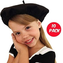 Beret Hats for Women and Kids Black French Berets Bulk Lot of 10 Perfect... - €19,46 EUR