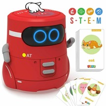 Educational Robot Toy Dance Sing Card Game Touch Sensing Recorder Intera... - $66.50