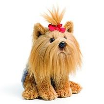 DEMDACO Red Bow Yorkshire Terrier Children's Plush Beanbag Stuffed Anima... - $14.51