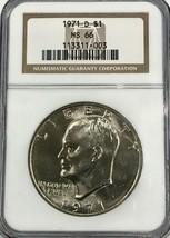 1971 D $1 Eisenhower Dollar NGC MS 66  - £69.75 GBP