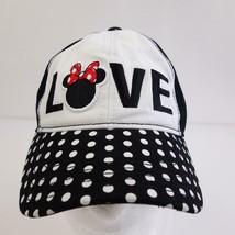 Disney Minnie Mouse Embroidered Polka Dot Baseball Hat Adjustable - $22.16