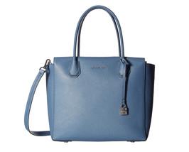 Michael Kors Studio Mercer Large Leather Satchel Crossbody Bag Denim NWT... - $3.320,07 MXN