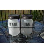 Rae Dunn Frosted Mason Jar Votive Candle Holder Tea Light BRIGHT SHINE R... - $20.00
