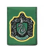 Harry Potter Slytherin Crest Logo Bi-Fold Vinyl Green Wallet NEW UNUSED - $16.44
