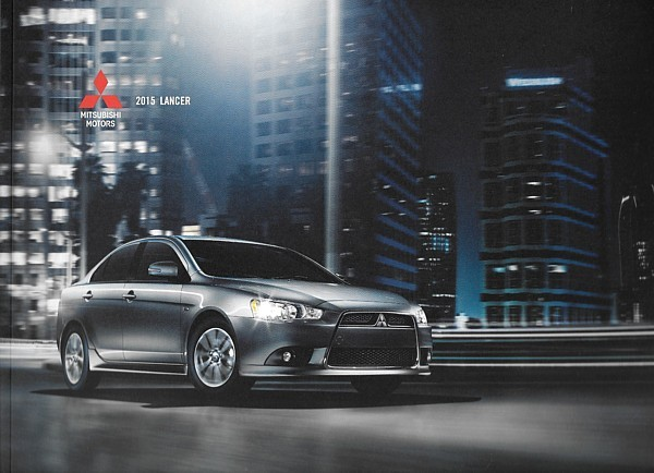 Primary image for 2015 Mitsubishi LANCER brochure catalog GT RALLIART EVOLUTION X 15 GSR MR