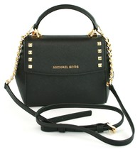 Michael Kors Karla Leather Cross Body Bag Small Handbag Black RRP £200 - $201.33