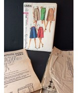 Simplicity 5884 Sewing Pattern 60s Set Of Skirts 24 Waist 33 Hips Pleate... - $8.70