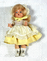 Vintage Vogue Ginny Doll Yellow Dress Painted Eye Blonde Hair - $165.00
