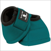 Classic Equine Dyno Horse No Turn Bell Boots Pair Teal U-00TL - $29.99