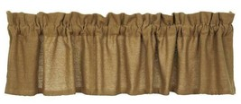 "farmhouse country primitive rustic Tan Deluxe BURLAP VALANCE curtain 16""... - $28.95"