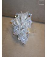 Bridal Headpiece Comb of Lace Petals & Crystals - $68.31