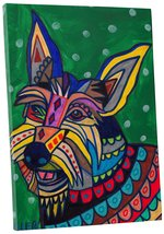 """Pingo World 0708QB3SCSY """"Heather Galler Berger Picard Dog"""" Gallery Wrapp... - $53.41"""
