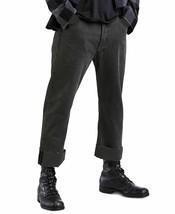 Levi's 501 Men's Original Custom Pleated Crop Pants Black 34 - $61.88