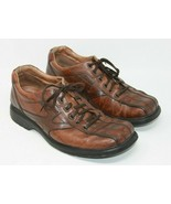 Clarks 10 Men's Lace-Up Brown Leather Bicycle Toe Casual Oxfords Shoes 7... - $21.37