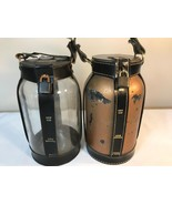 Vintage Pair of Griffon Glass Canteens Thermoses with Leather Holders - $15.00