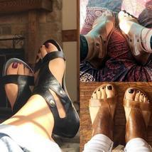Plus Size 35-43 Women's Summer Fashion Leather Sandals Beach Flat Thong Sandals
