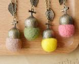 De wool felt acorn long necklaces pendants collar 2015 vintage jewelry accessories thumb155 crop