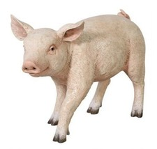 """Lifesize Realistic Outdoor Baby Pig Figure 23""""Wx10""""Dx16½""""H (dt) M13 - $593.99"""