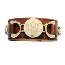 Modern Trendy Adjustable Snap Button Personalize Fashion Leather Cuff Bracelet - $19.99