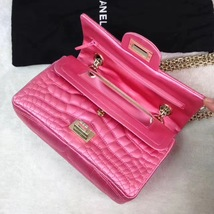 Authentic Chanel Classic 2.55 Reissue Mini Double Flap Bag Pink Silk GHW image 4