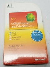 Microsoft Office Home and Student 2010 Key Card Word Excel PowerPoint.. ... - $53.99
