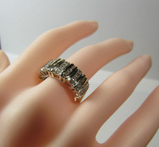 10K 10KT Gold Diamond Baguettes Band Size 6.75 Ring JTW Jerrid Thelman W... - $183.15