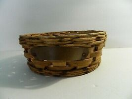 Vintage Pyrex Wicker Wood 2 Qt Casserole Dish Holder Cradle Fits 024 624 684 image 3