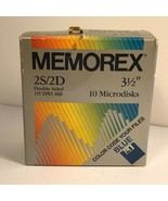 MEMOREX 2S/2D DOUBLE SIDED MICRODISKS 3 AND 1/2 INCH BLUE PACK OF 8 135 ... - $14.80