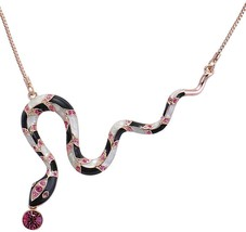 Chaomingzhen Gold Plated Austrian Crystal Snake Necklaces Pendants for Women - $76.72