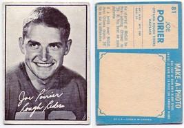 1961 Topps Joe Poirier Rookie Card #81 Ottawa Rough Riders McGill - $5.96
